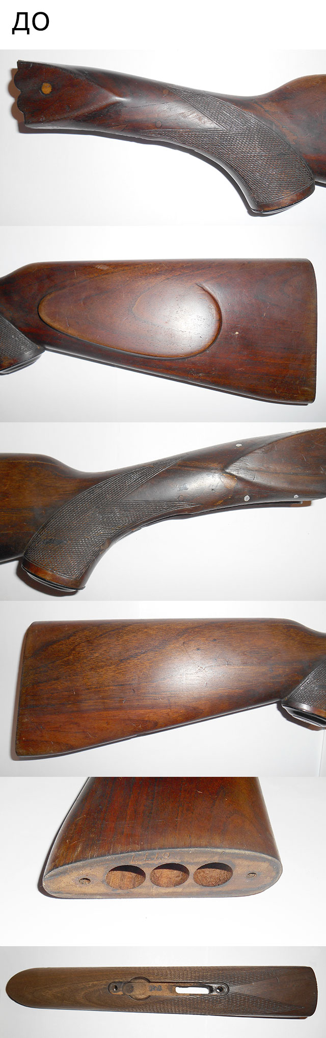 Приклад и цевье ружья Simson до реставрации